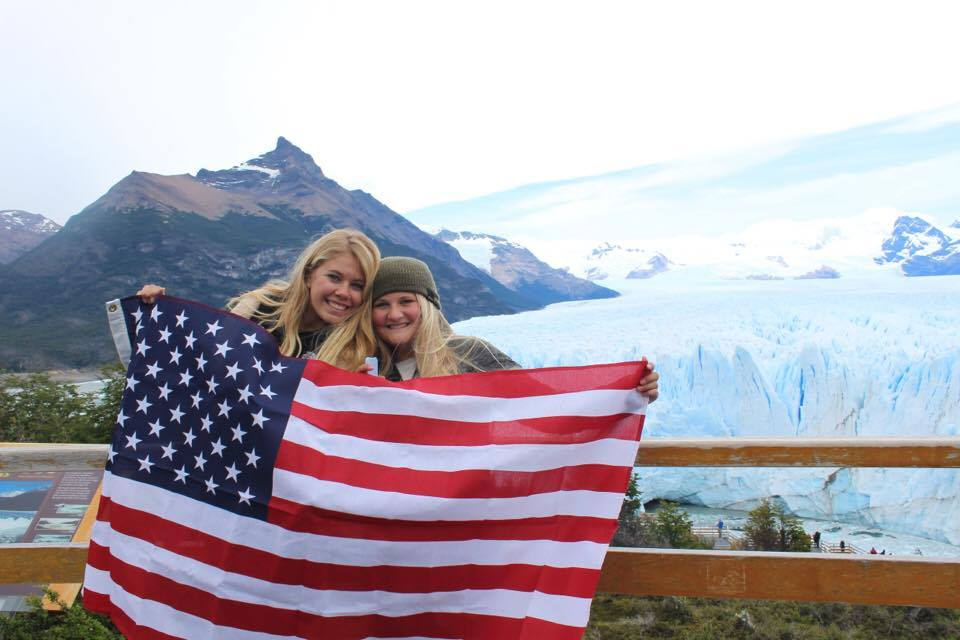 Photo courtesy of Annabelle Ward. Annabelle Ward (left) in Argentina studying abroad.
