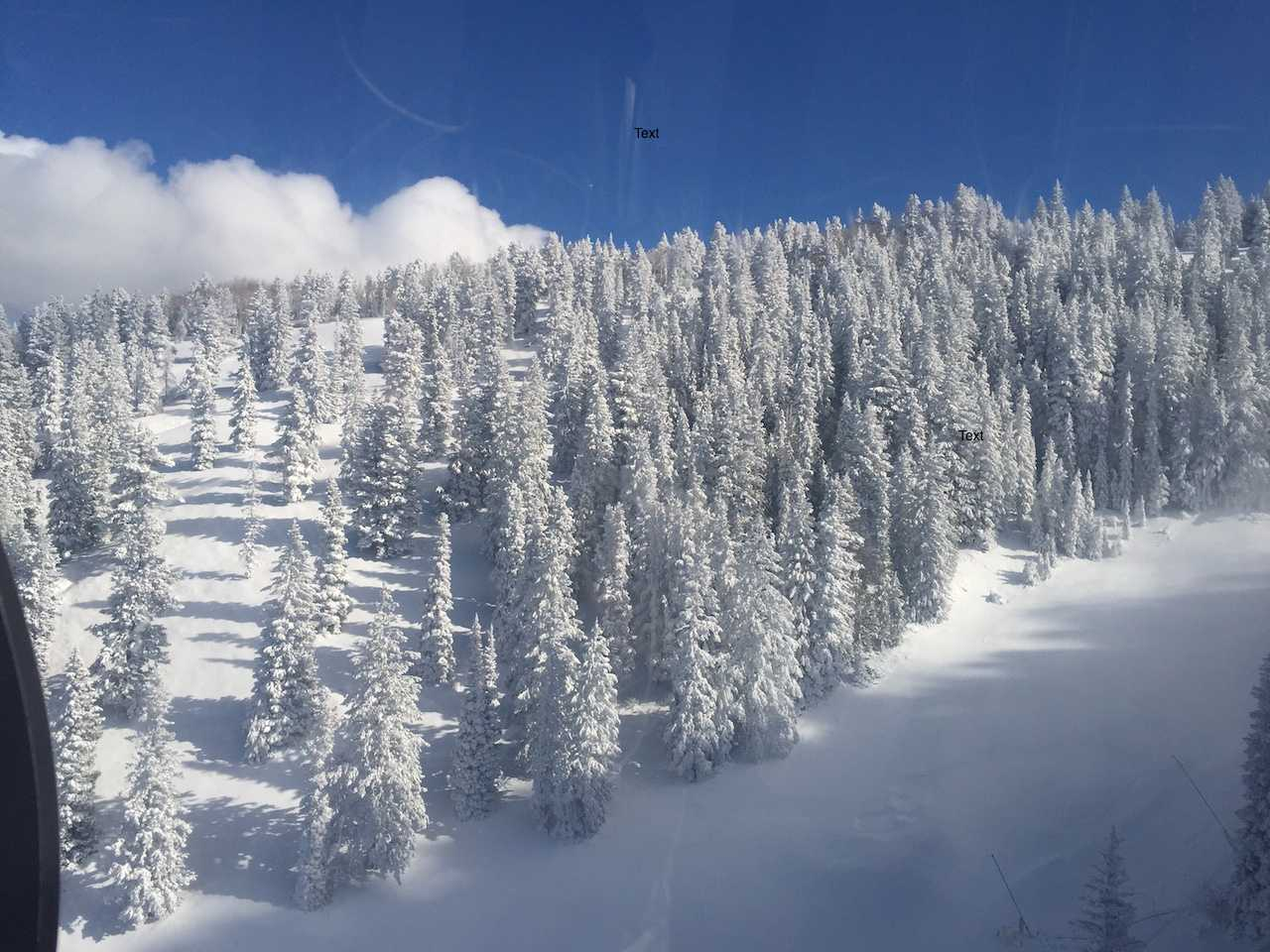 Aspen Mountain earlier this year covered in snow.