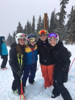 AHS girls, at the top of the course at Ski Cooper.