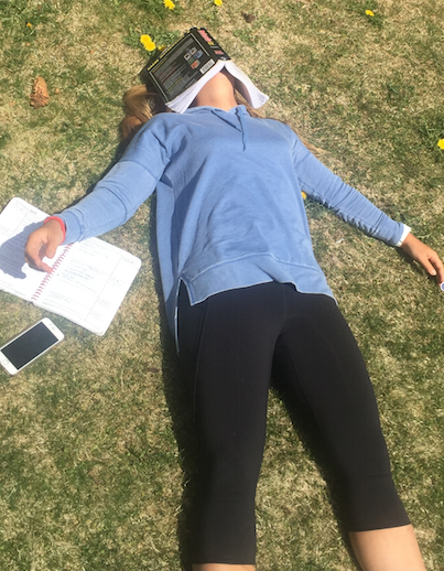 Junior Chelsea Moore losing motivation and ready for summer sun.