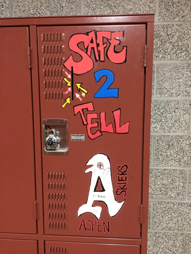 The+Safe+to+Tell+Locker+near+the+weight+room+