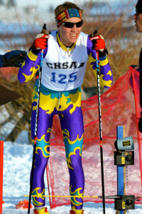 Ben Belinski gets ready to race in the state Nordic meet.