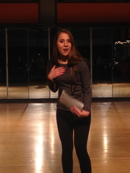 Junior Eliza Wells auditioned for her dream role on December 9.