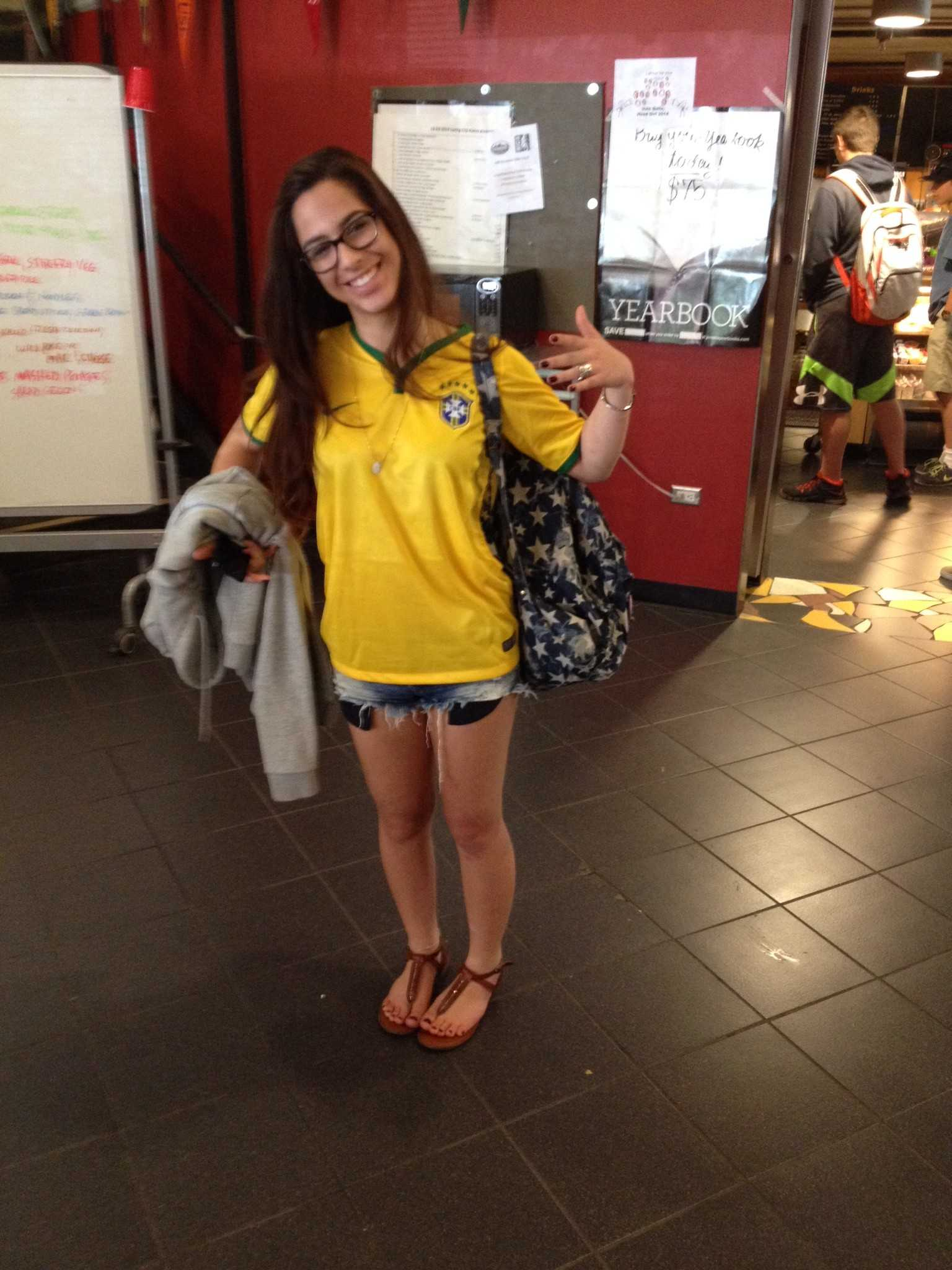 Brazilian Maria Eduarda Sabba sports her country's colors.