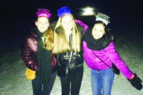 AHS seniors Bentley Rager, Gaby Magana, and Marie Wolf rang in the New Year by watching fireworks in Wagner Park and spending time with good friends.
