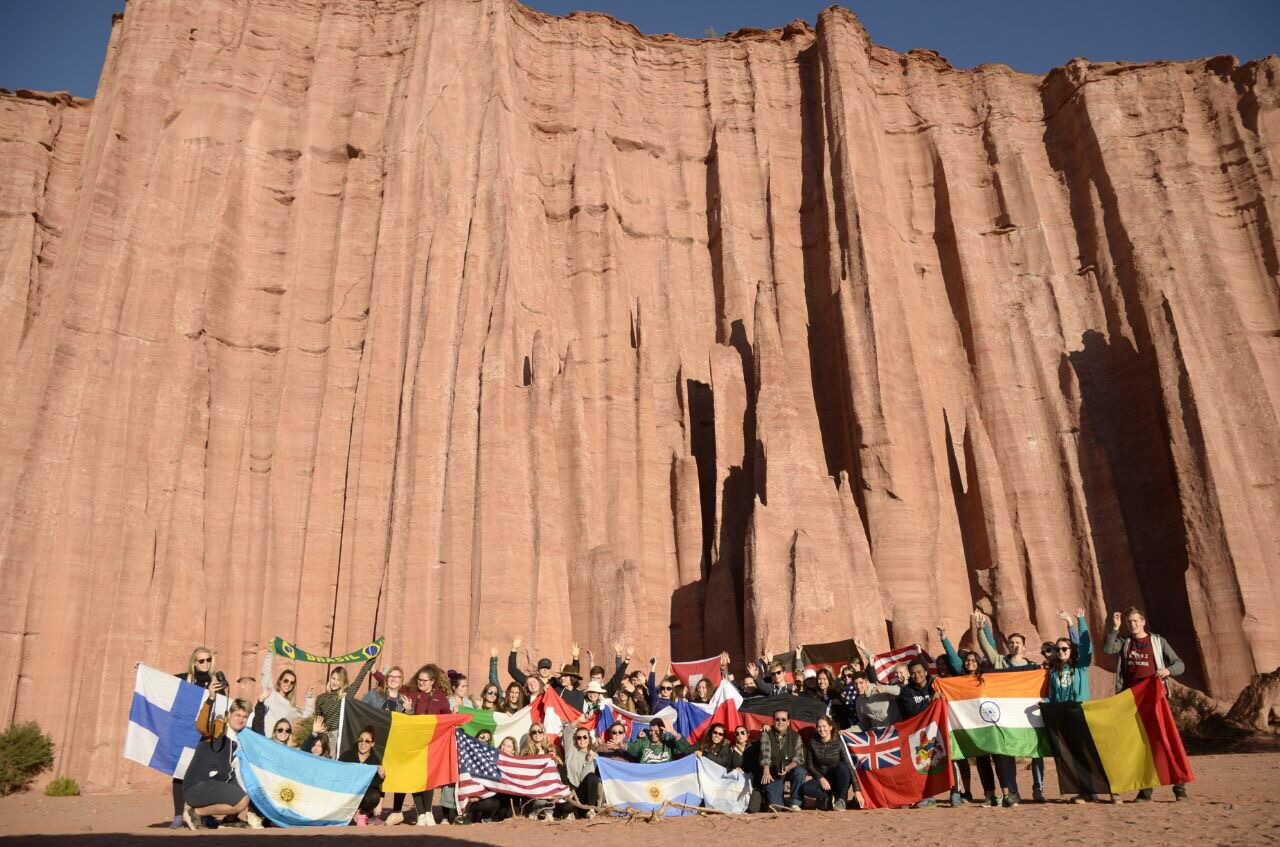 Annabelle Wards Rotary group in Argentina.
