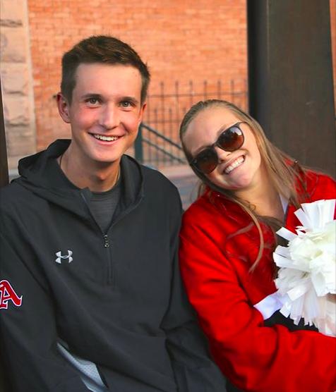 Ricky Wojcik and Francesca Seeman, AHS Head Boy and Girl