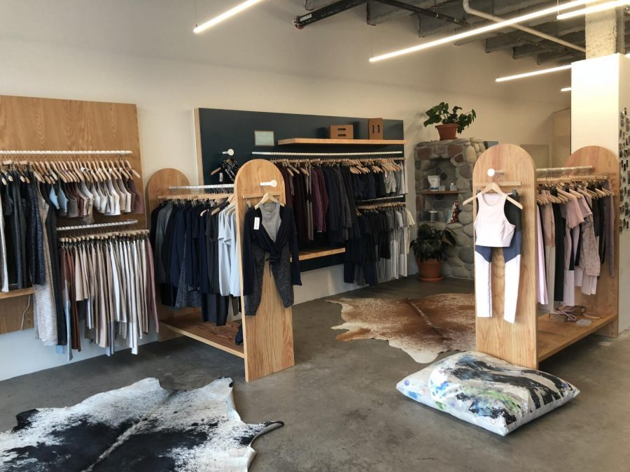 Outdoor Voices athletic clothing store.