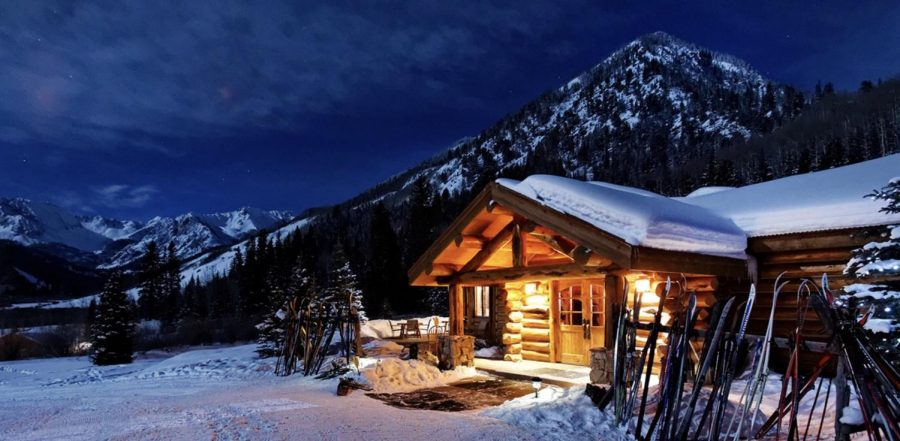 Pine Creek Cookhouse at night.
