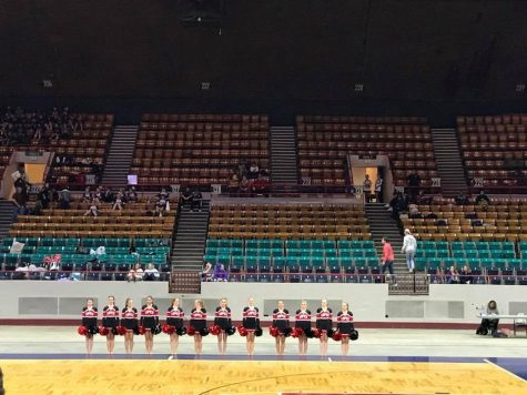 The dance team performs one of their routines at the State Championships.