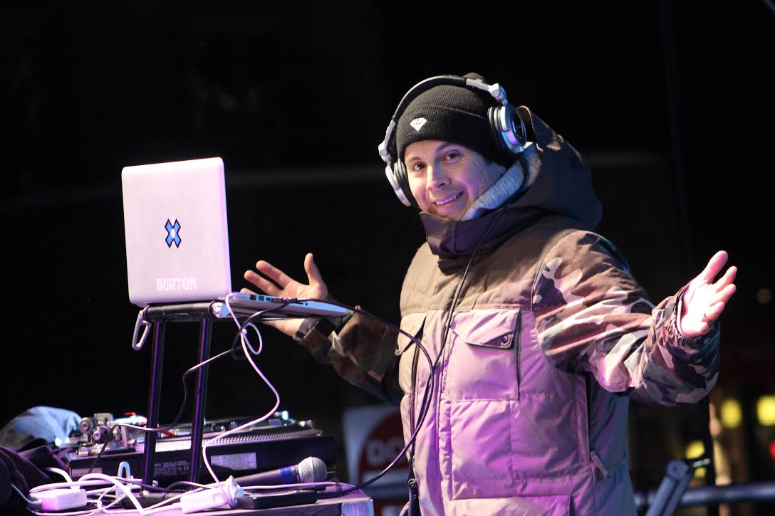 Naka G playing a couple beats at the winter X Games in Aspen.