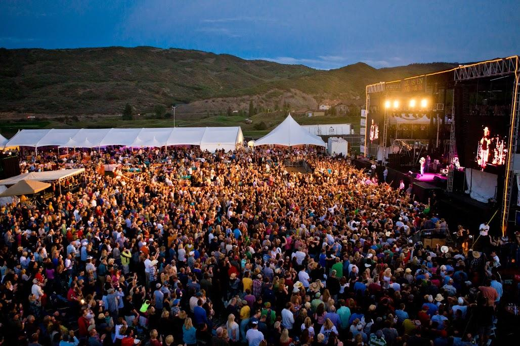 The crowds filled at the JAS Aspen Labor Day Festival.