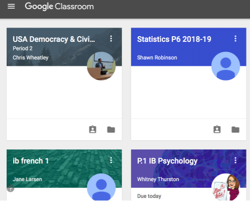 Google Classroom homepage, highlighting their new updates, features, and refreshed visual representation.