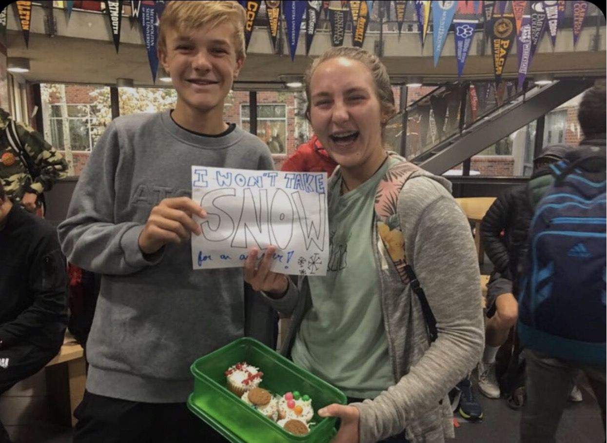 Emily Kinney asking James Kelly to Homecoming.