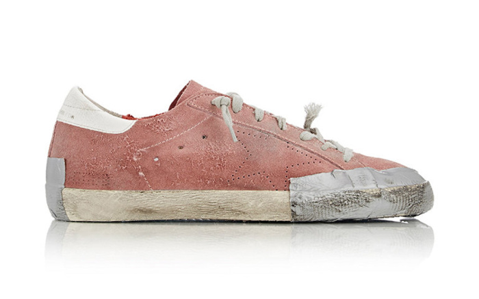 One of the pre-distressed shoes released on Golden Goose.