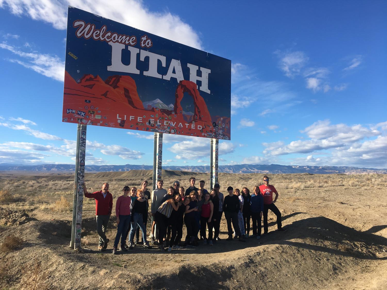 Aspen/Nantes exchange visiting Moab, Utah.