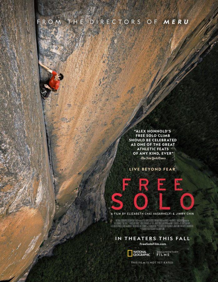 Alex+Honnold+climbs+up+a+crevice+as+the+first+free+solo+climber+on+El+Capitan%2C+Yosemite.