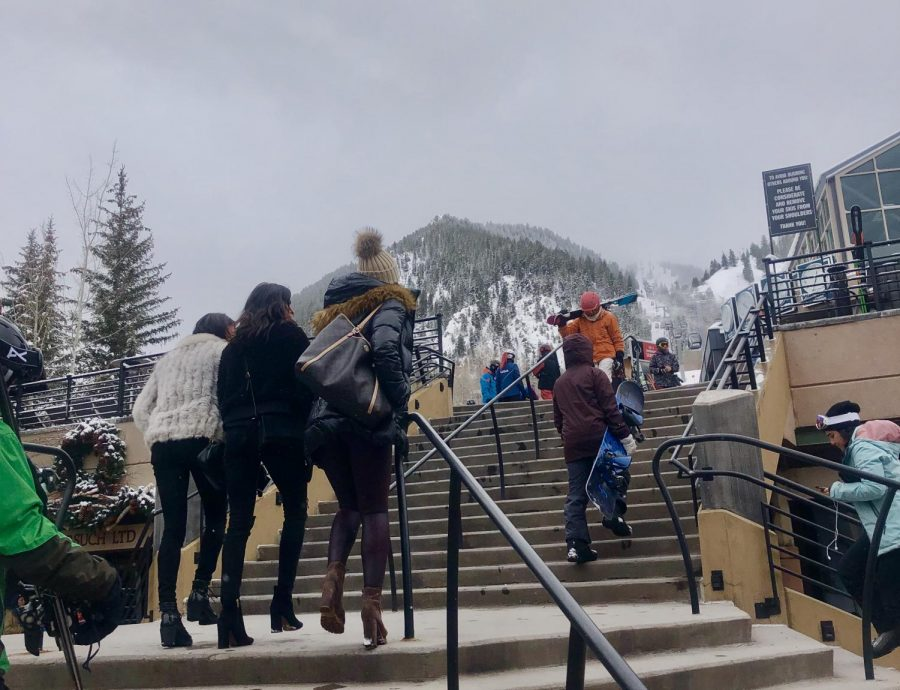 Aspen's winter beauty attracts celebrities of all backgrounds.