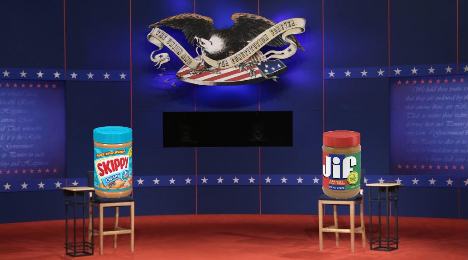 Skippy and Jif compete against each other in the 2019 mayor campaign.