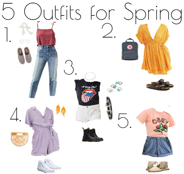 Five+cute+and+fashionable+outfits+for+Spring.