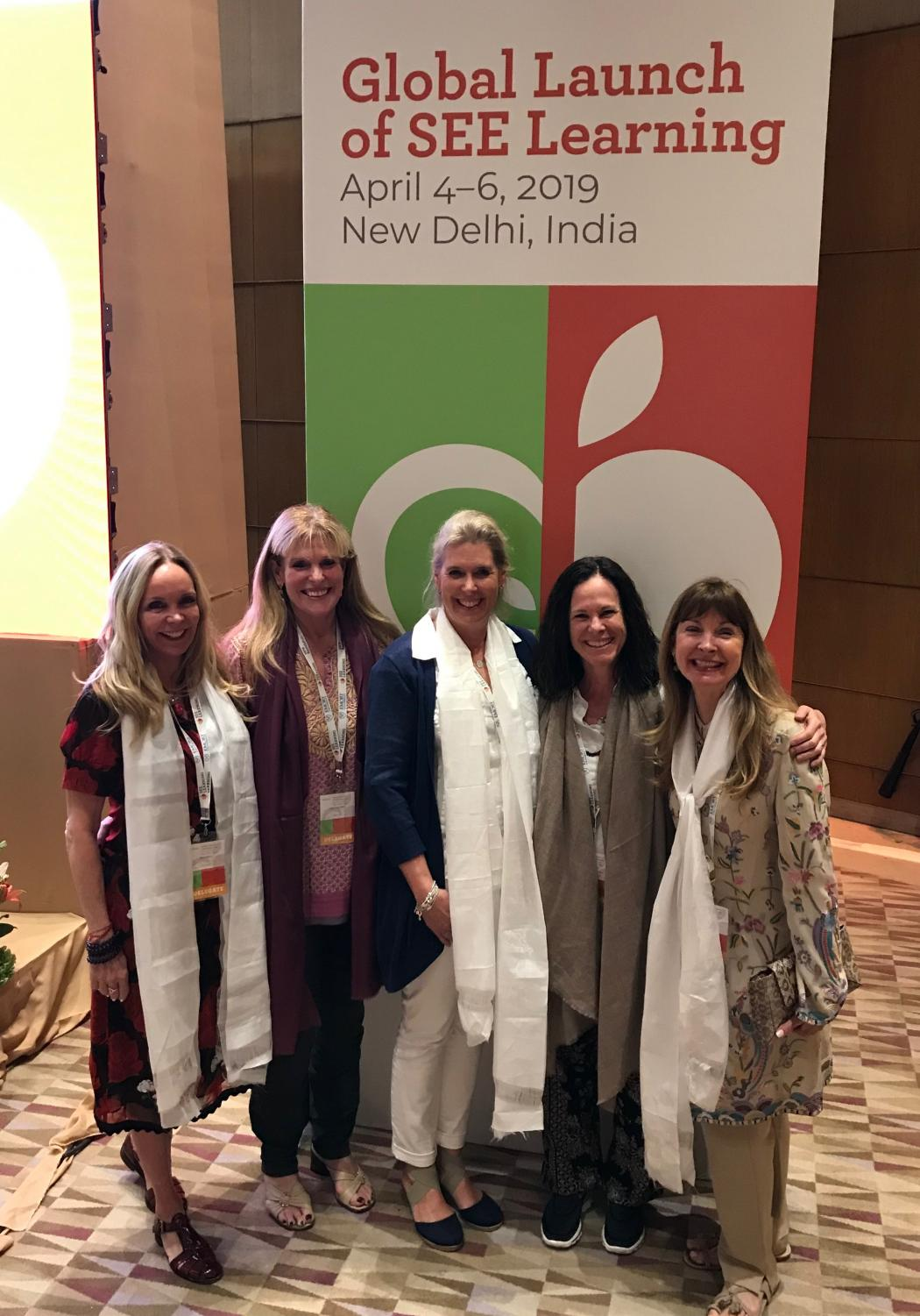 Megan Noonan (second from right) at the SEE Learning Curriculum Launch in New Delhi, April 4-6, 2019.