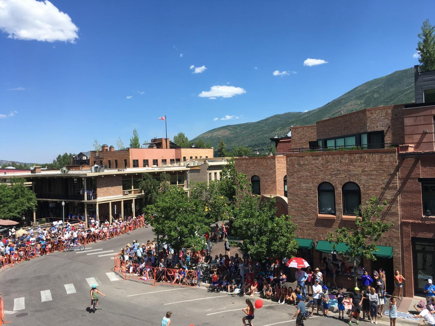 Downtown Aspen on a sunny 4th of July morning. During high seasons such as the summer, businesses are able to generate high revenue, unlike off-season.