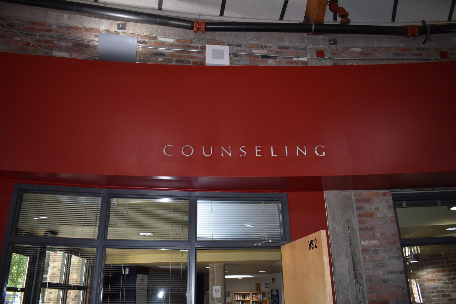 The counseling office, located next to the commons of AHS.