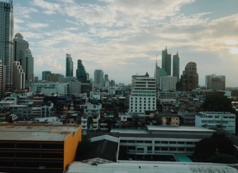 Crowded+skyline+of+Bangkok%2C+Thailand%2C+at+dusk.
