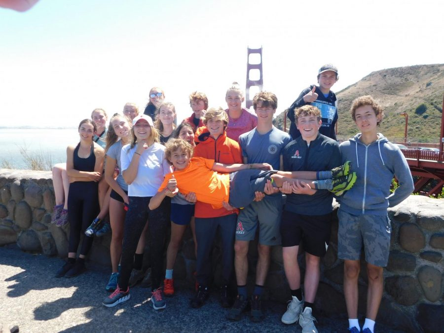 The+2019+San+Francisco+Backpacking+group+stands+in+front+of+the+Golden+Gate+Bridge.+Students+used+the+old+lottery+system+in+order+to+obtain+a+spot+on+the+trip.+