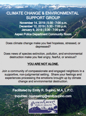 Climate grief support group counsels community