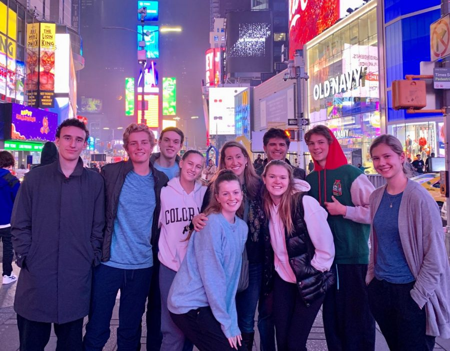 The students and teachers who attended the trip in the streets of NYC.