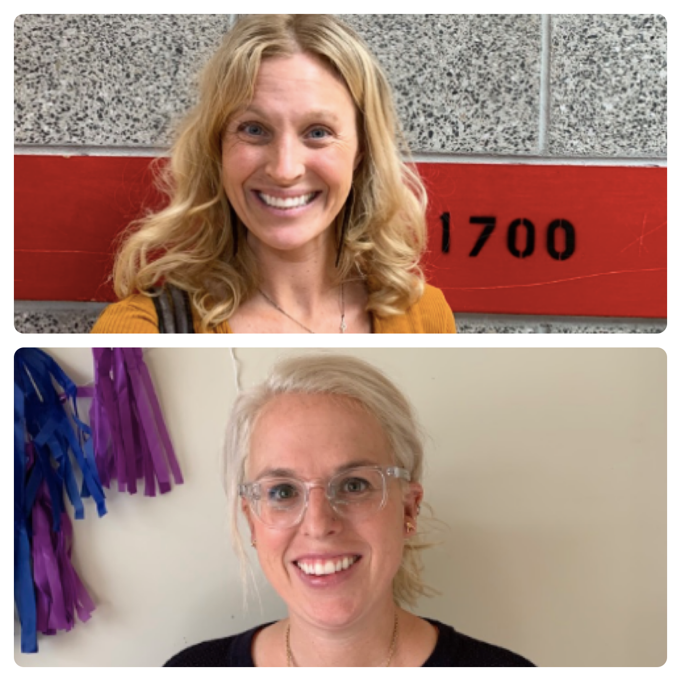 AHS English teachers Mailie LaPenna and Anna Beth Clark return to the AHS halls after maternity leave.