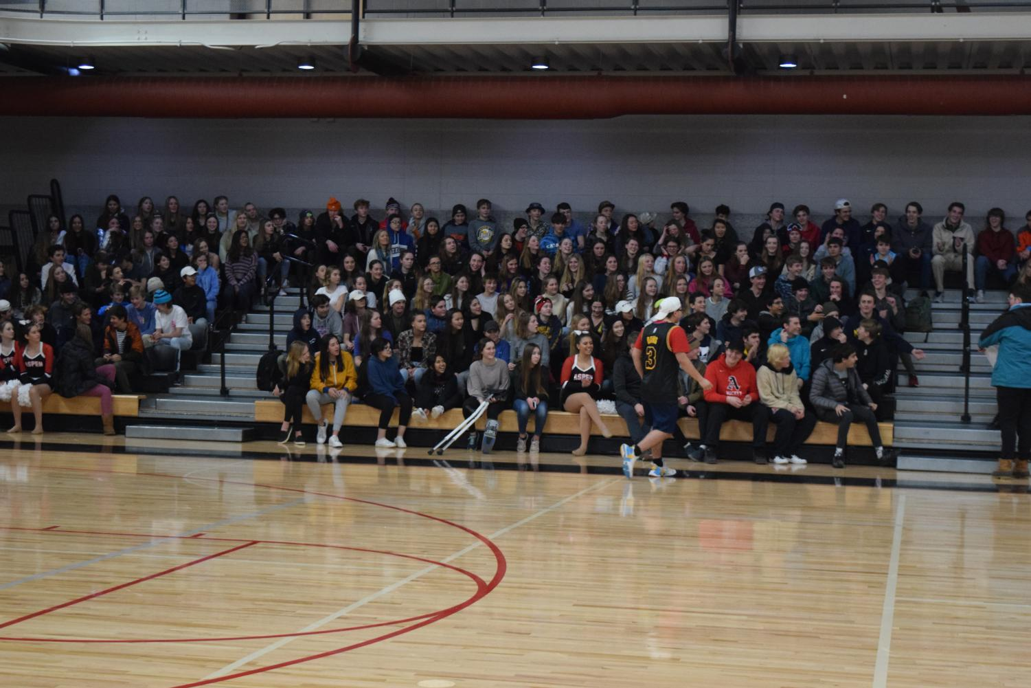 Winter pep rally this year at AHS, where sadly only half of the senior class showed up to sport their school spirit.