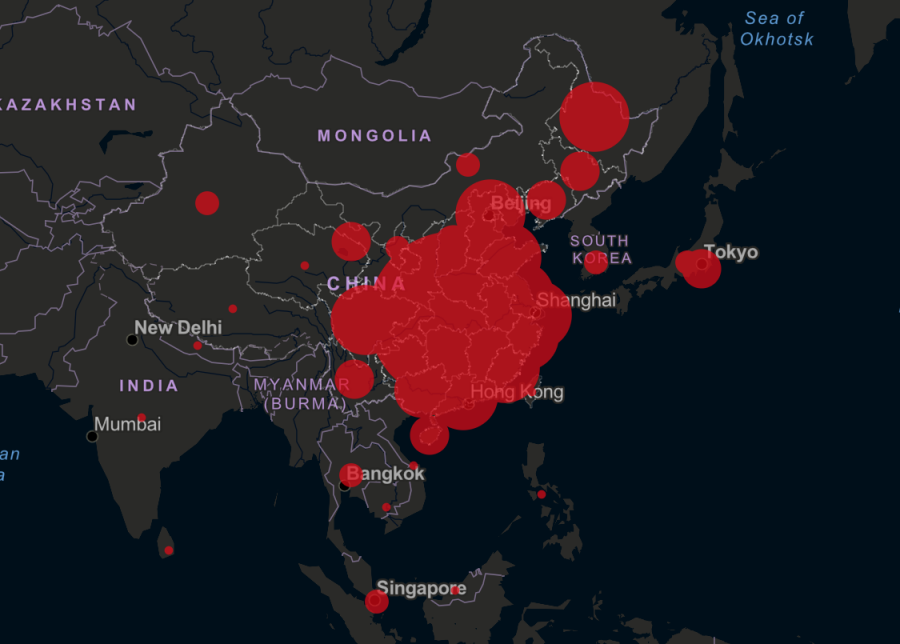 Johns Hopkins CSSE number of infected by CoronaVirus in China (2/11/2020).