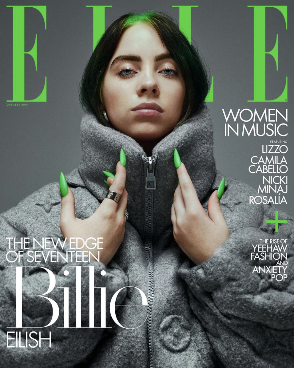 Coverage of Billie Eilish as a young aspiring fashion icon and musician.