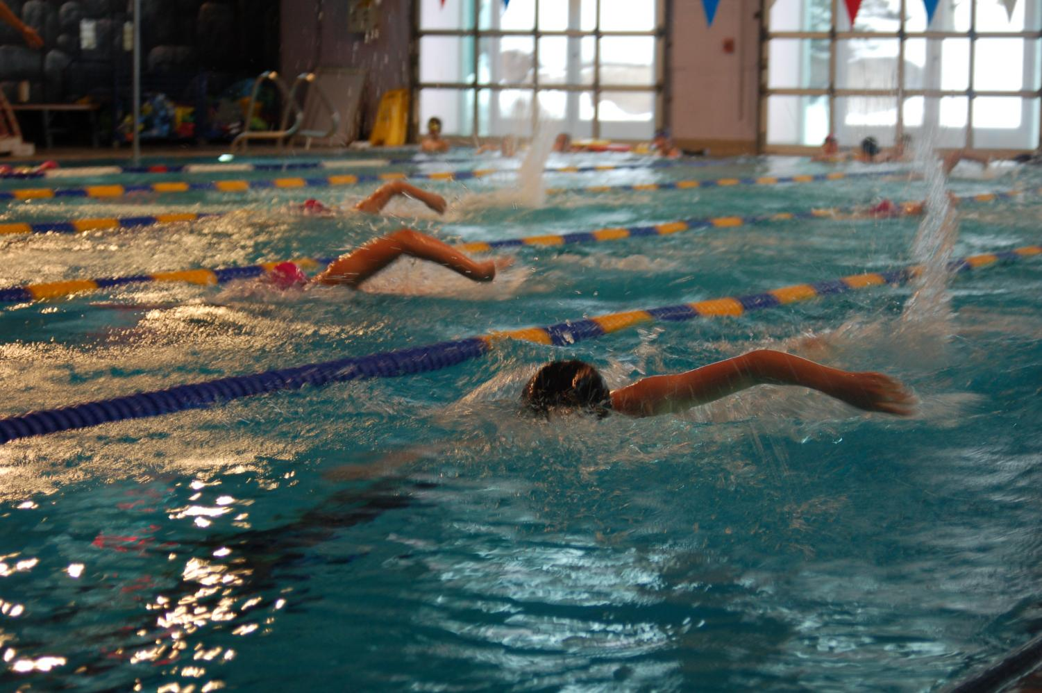 AHS swimmers practice at the Aspen Recreation Center on a recent afternoon.