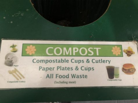 Compost receptacle in the commons shown