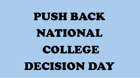 Students at AHS have been posting this photo in attempts to spread the word about their efforts to push back college decision day.