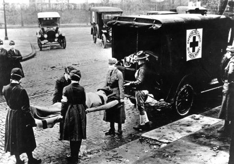 A photo taaken during the 1918 pandemic of the Spanish Flu