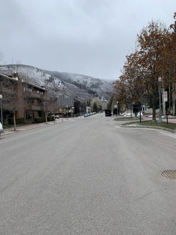 The usually-busy streets of downtown Aspen lack its rush-hour traffic.