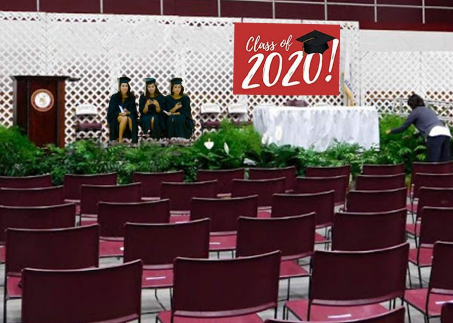 The class of 2020's graduation ceremony, featuring only those students with perfect attendence.