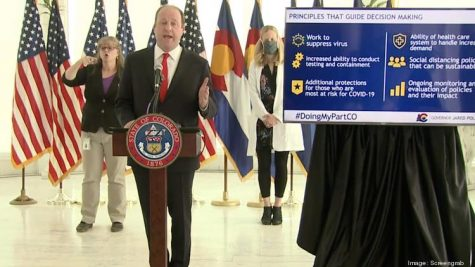 Colorado Governor Jared Polis announces the relaxation of stay-at-home order by changing regulations to safer-at-home orders.