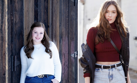 Photo courtesy of Maya Abraham and Avery Hirsch.  Avery Hirsh and Maya Abraham posing in separate photos