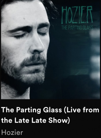The album art for Hozier's rendition of  The Parting Glass, released on all streaming platforms, sang live on The Late Late Show.