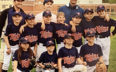 Senior members of the Aspen High School baseball team playing together when they were younger.