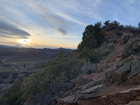 Red Butte hiking trail at sunset, a great activity do try during summertime.