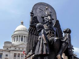 Photo of the Baphomet statue erected in Arkansas, from wired.com