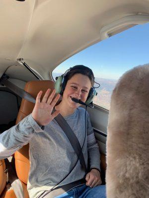 AHS sophomore Bennett Jones participates in a flight with the Aspen Flight Academy.