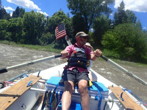 Bob Sloezen rafting the Roaring Fork River