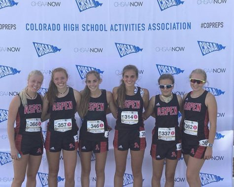 AHS States Team from left to right: Kendall Clark, Edie Sherlock, Michaela Kenny, Kylie Kenny, Elsie Weiss, and Eva McDonough
